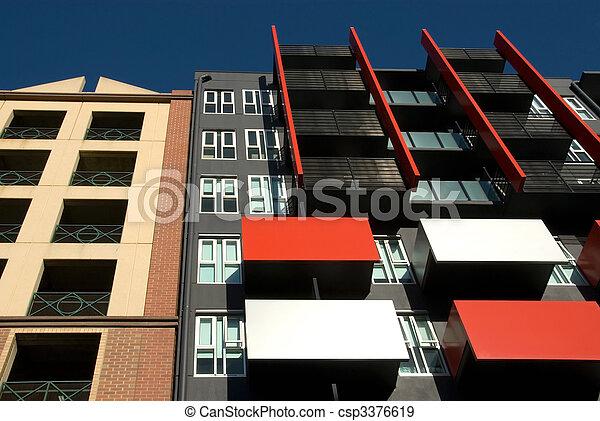 건물, 아파트, 외부 - csp3376619