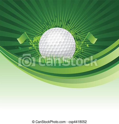 골프, 배경 - csp4418052