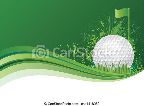 골프, 배경 - csp4418063