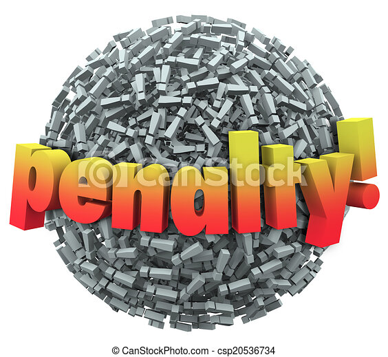공, 낱말, excalmation, 점, 표, 형벌, 훌륭한, 징벌, 3차원 - csp20536734