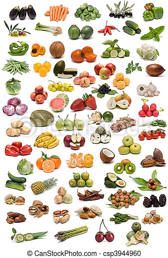 과일, 미친, spices., 야채 - csp3944960