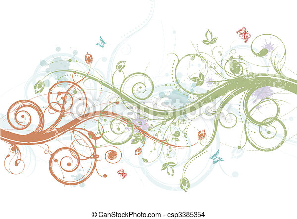 꽃의, 봄 - csp3385354
