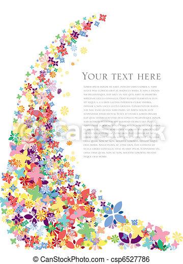 꽃, 봄, 배경 - csp6527786