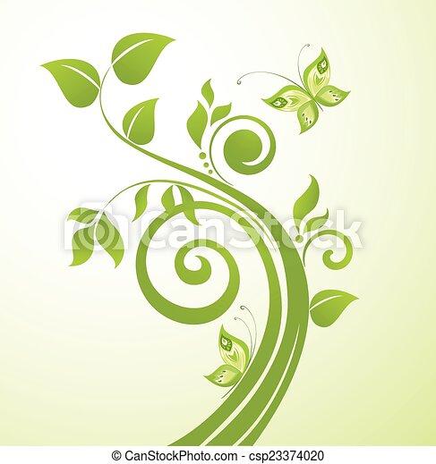 녹색 나무 - csp23374020