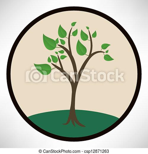 녹색 나무 - csp12871263