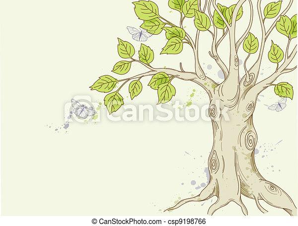 녹색 나무 - csp9198766