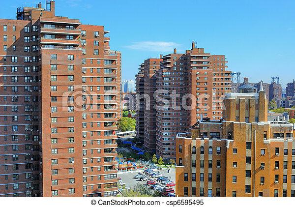 도시 풍경, 더 낮은 동쪽의 쪽 - csp6595495