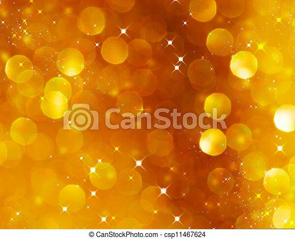 떼어내다, 빛나는, 금, 휴일, 크리스마스, texture., bokeh, 배경. - csp11467624