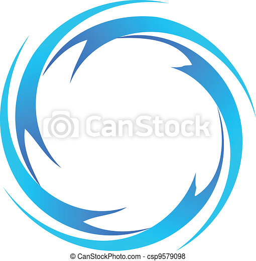 물, 로고, 벡터, 파도 - csp9579098