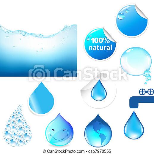 물, 상징, 세트 - csp7970555