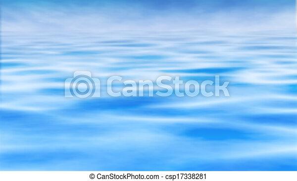 물, 수평선 - csp17338281