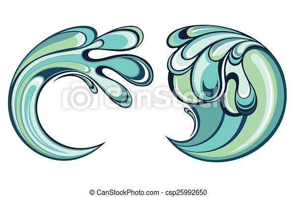 물, 튀김 - csp25992650