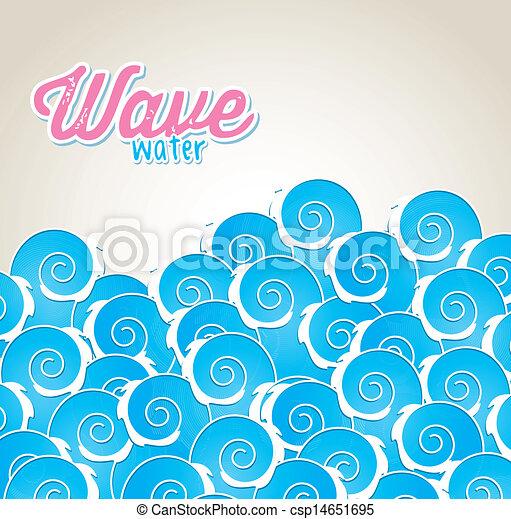 물, 파도 - csp14651695