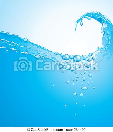 물, 파도 - csp4254492