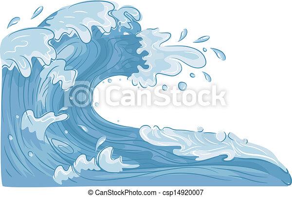 물, 파도 - csp14920007