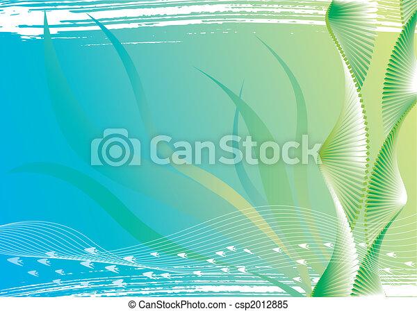 물, 해초, 억압되어 - csp2012885