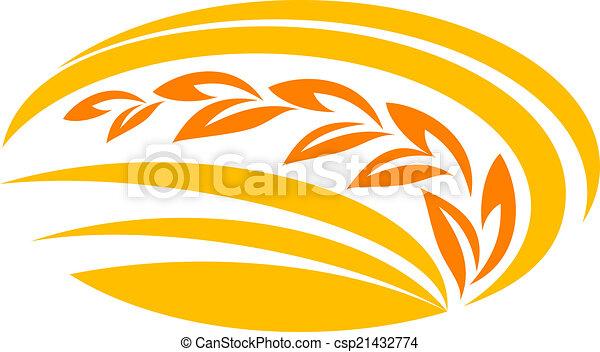 밀, 상징, 곡물 - csp21432774