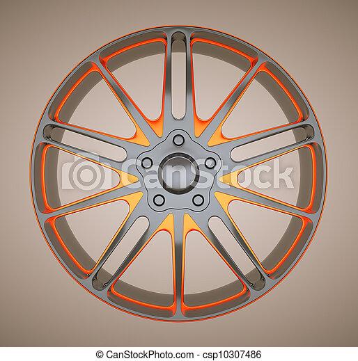 바퀴, 합금, 평원반, sportcar, 또는 - csp10307486