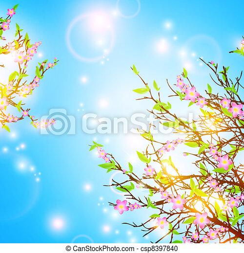 봄, 배경 - csp8397840