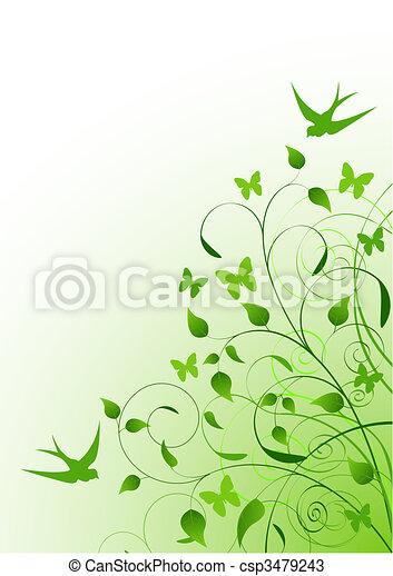 봄, 배경 - csp3479243