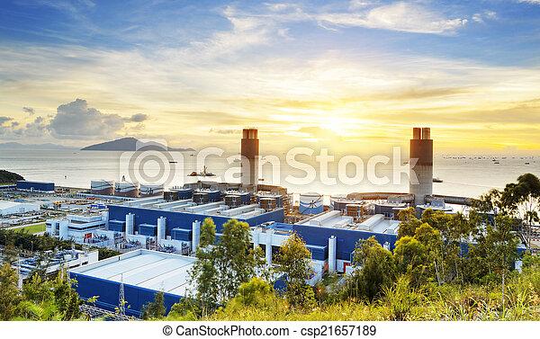 빛, 산업, 석유 화학 제품, 백열 - csp21657189