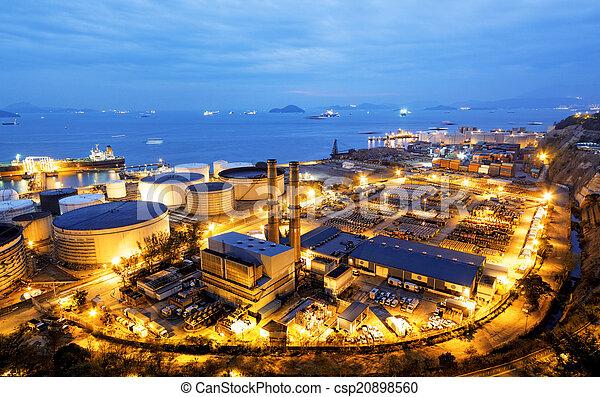 빛, 산업, 석유 화학 제품, 백열 - csp20898560