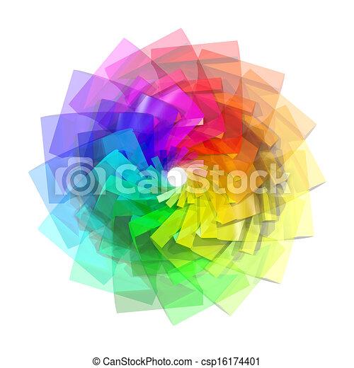 색, 떼어내다, 나선, 배경, 3차원 - csp16174401