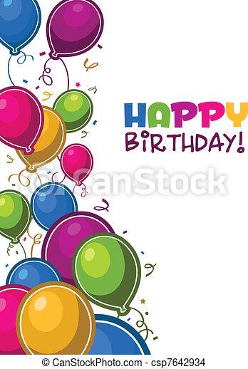 생일, 기구, 행복하다 - csp7642934