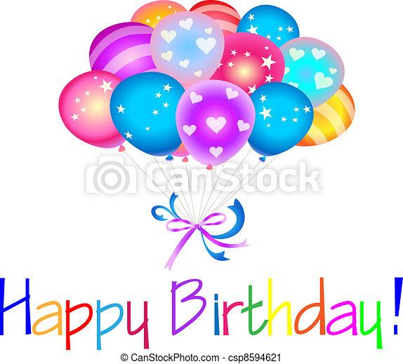 생일 축하합니다, 기구 - csp8594621