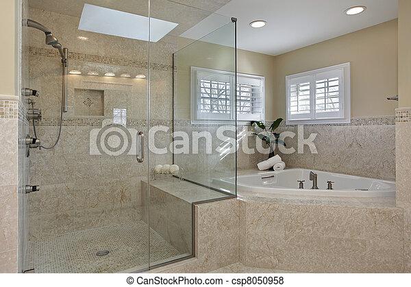 샤워, 유리, 주인, 목욕 - csp8050958