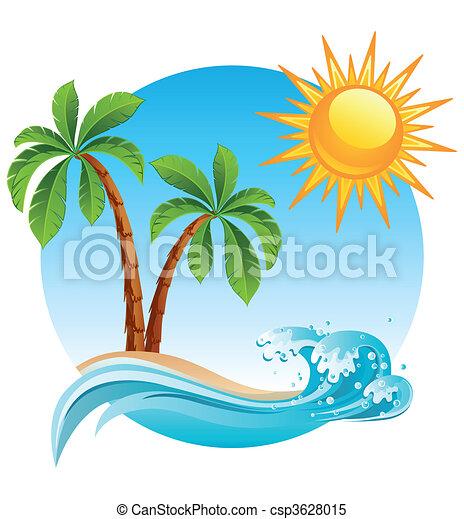 섬, 열대적인 - csp3628015
