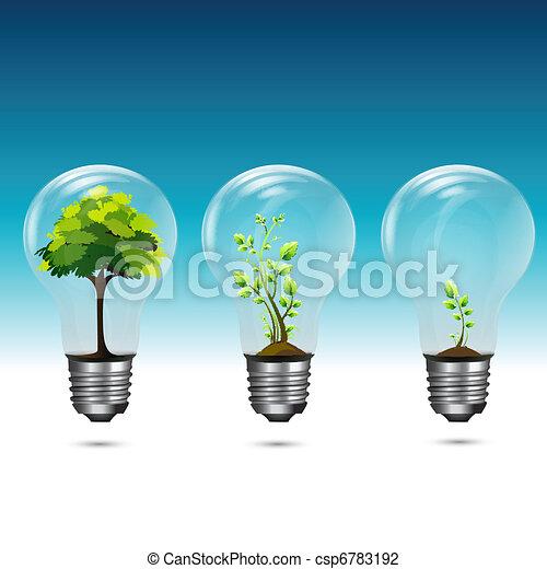 성장하는, 녹색, 기술 - csp6783192