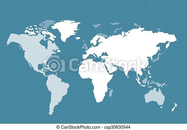 세계 지구, 지도, 직물, 지구 - csp30630544