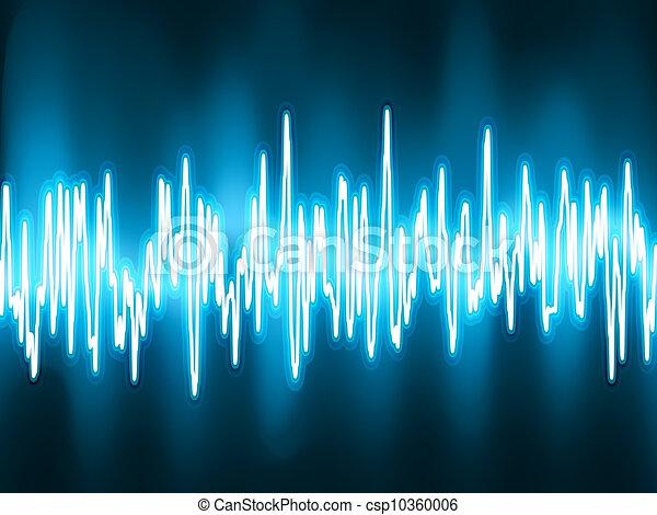 소리, 전류를 고주파로 변환시키는, light., eps, 파도, 8, 백열 - csp10360006