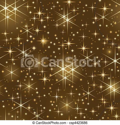 스파링, 별을 아로새기는 하늘, seamless, 크리스마스 - csp4423686