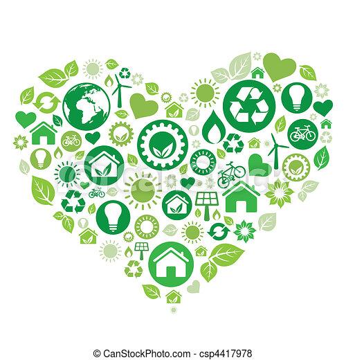 심장, 녹색 - csp4417978