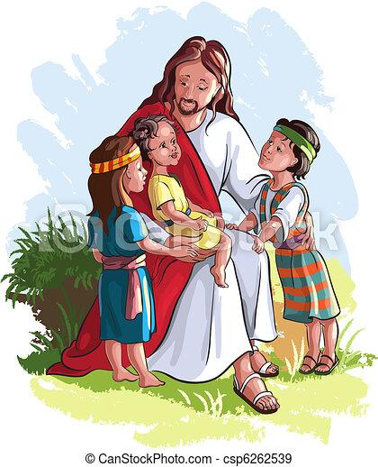 아이들, 예수 - csp6262539