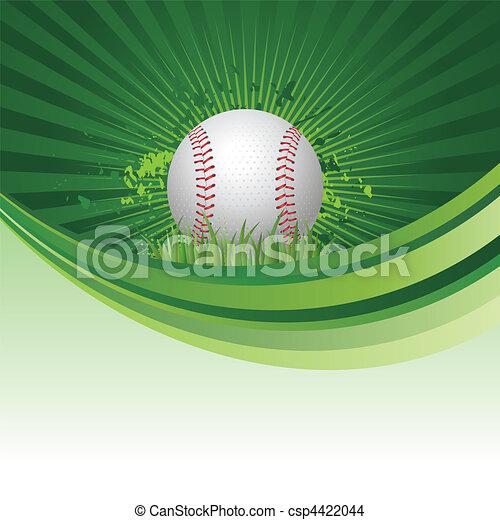 야구, 배경 - csp4422044