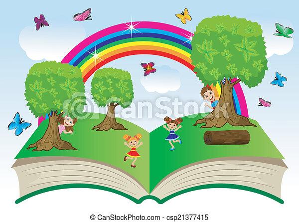 열린 책, 아이들 - csp21377415