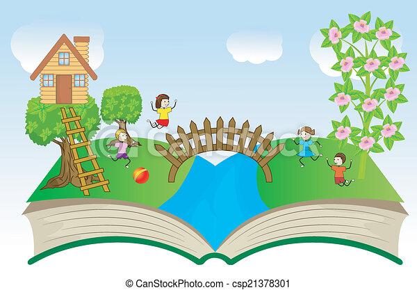 열린 책, 아이들 - csp21378301