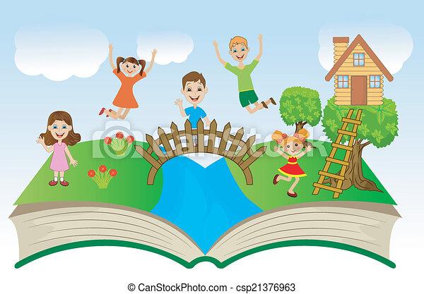 열린 책, 아이들 - csp21376963