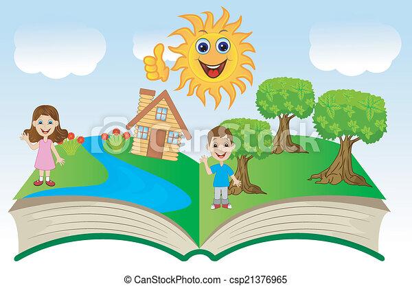 열린 책, 아이들 - csp21376965