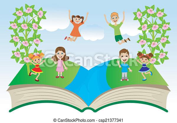 열린 책, 아이들 - csp21377341