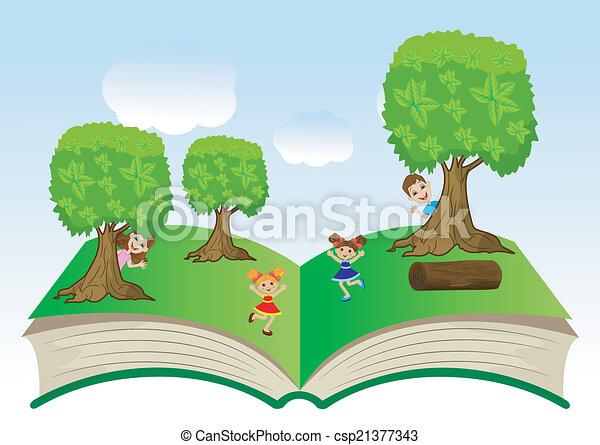 열린 책, 아이들 - csp21377343