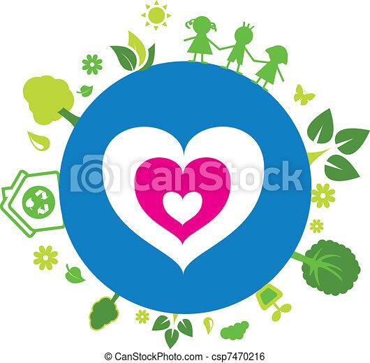 우리, 사랑, 지구 - csp7470216