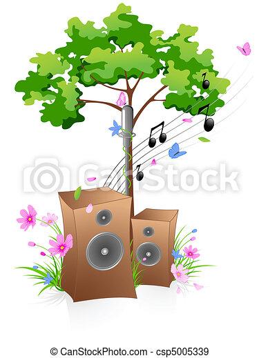 음악, 배경 - csp5005339