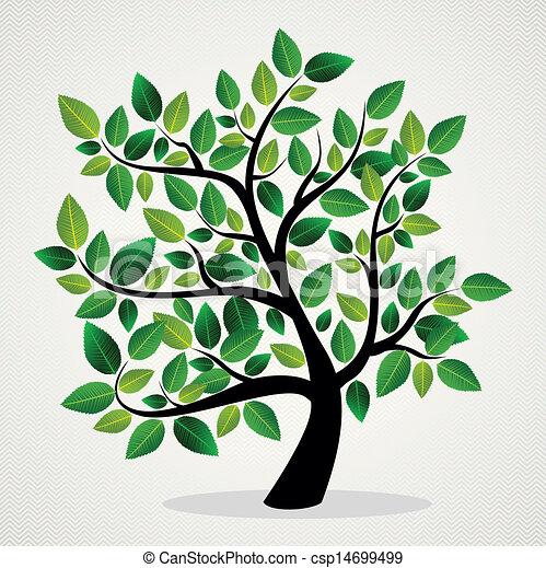 잎, 개념, 나무 - csp14699499