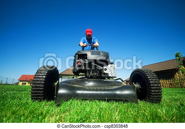 잔디를 깎는 것 - csp8303848