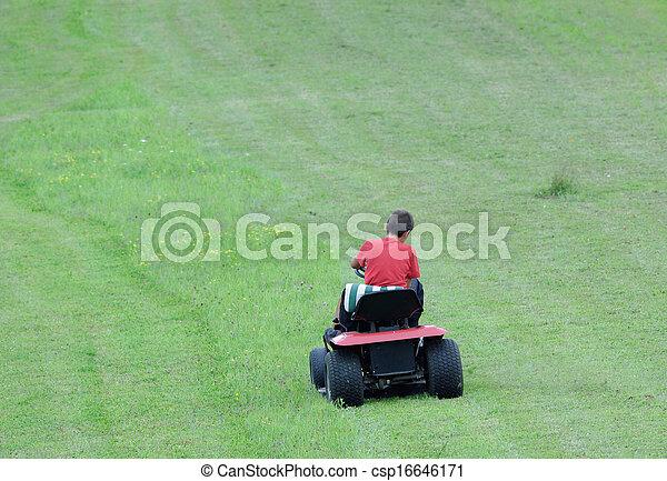 잔디 풀 베는 기계 - csp16646171