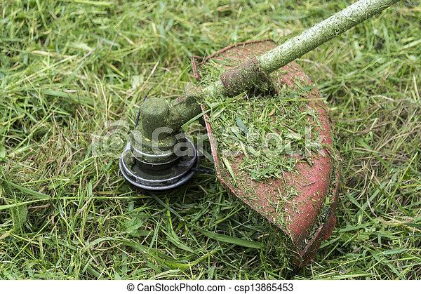 잔디 풀 베는 기계 - csp13865453